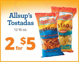 Allsups's Tostadas 2 for $5