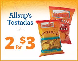 Allsups's Tostadas 2 for $3