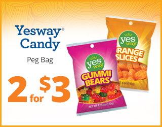 Yesway Candy 2 for $3