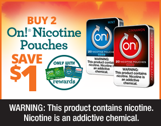 Buy 2 On! Nicotine Pouches, Save $1