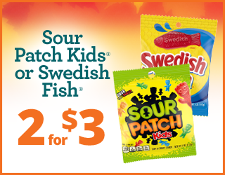Sour Patch Kids/Swedish Fish - 2 for $3