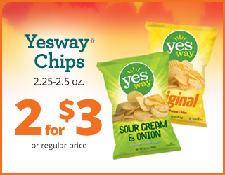 Yesway Chips 2.25-2.5oz - 2 for $3