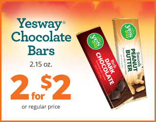 Yesway Chocolate Bars - 2 for $2