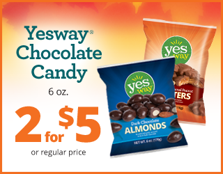 Yesway Chocolate Candy 6oz - 2 for $5